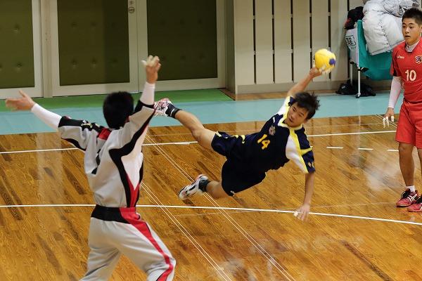 高校ハンドボール選抜大会愛媛県予選リーグ松工-松東141221 01