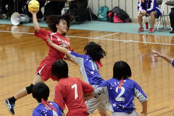 高校ハンドボール選抜大会愛媛県予選リーグ女子松商-今北141221 01
