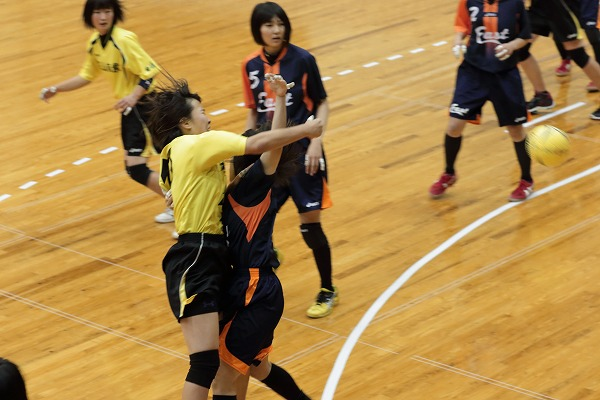 高校ハンドボール選抜大会愛媛県予選リーグ女子松商-新東141221 01