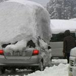 車の上に積雪