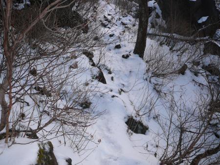 山の上は冬でした。