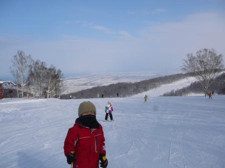 暖かいしスキー日和だよ~