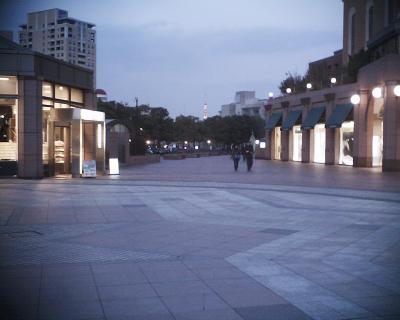 灯り点る東京タワー:恵比寿ガーデンプレイス:R2