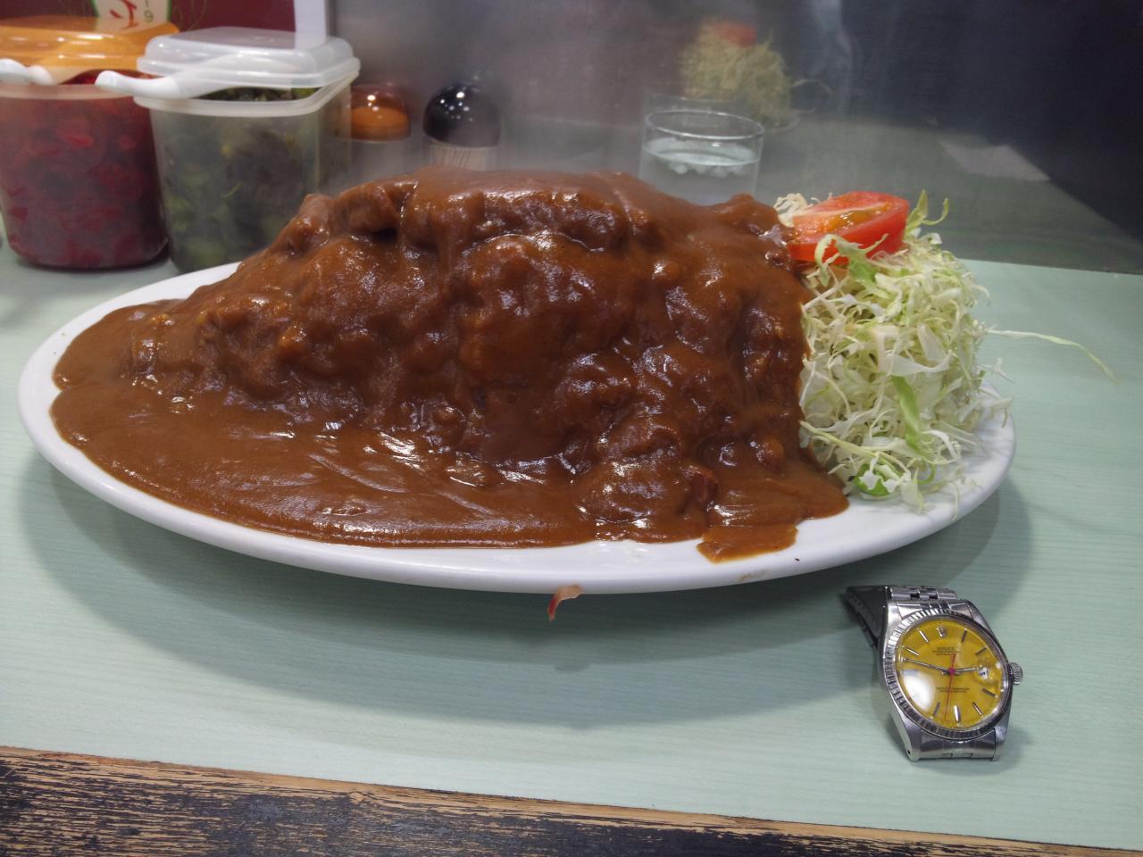 バーグ弥生町店(カツカレー特盛)