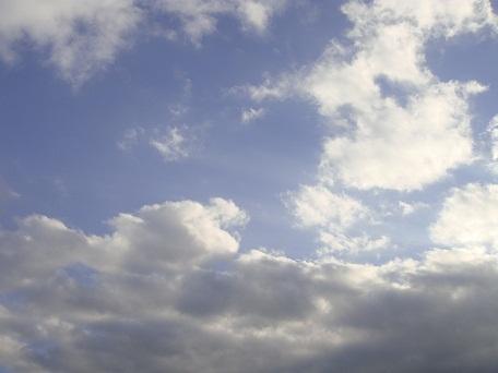 空を見上げて応援