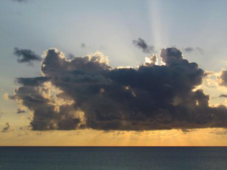 2日夕方の雲(1)