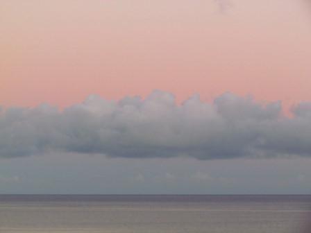ピンクの朝焼け