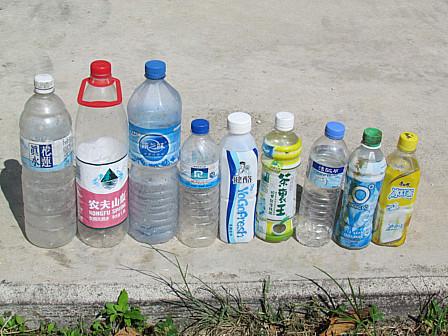 台風ゴミペットボトル