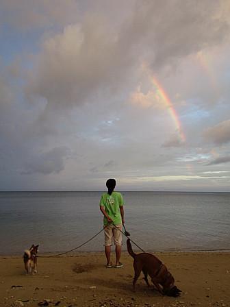 虹とココ・モカ
