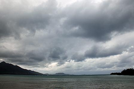 曇天の太田海岸
