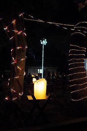 氷灯籠木2本
