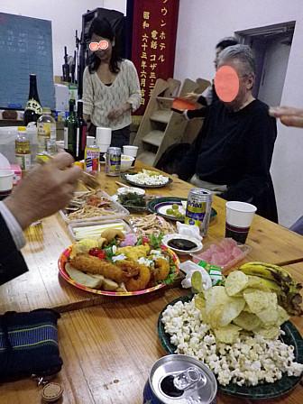 オードブル皿と刺身