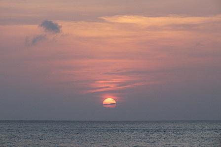 3月17日夕陽
