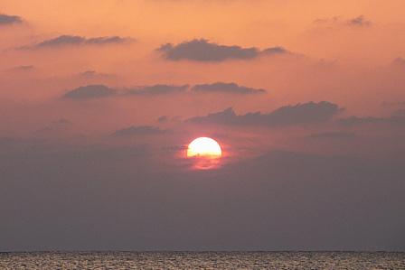 3日27日夕陽