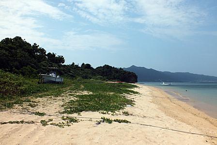 陸揚げ船の浜