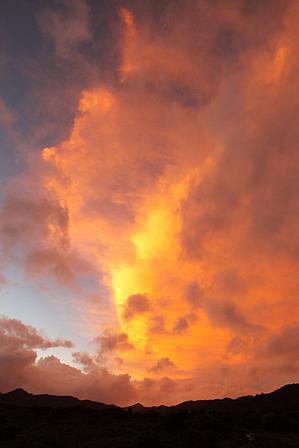7月31日6時02分朝焼け雲
