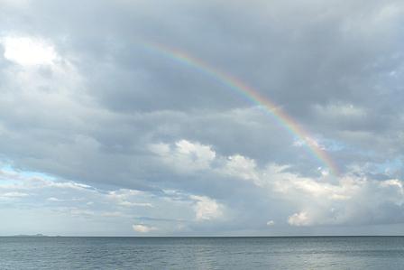 16日7時32分 虹