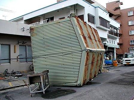 台風13号落下家屋