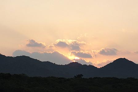 9月18日6時55分陽の出