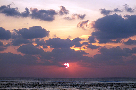 9月17日18時40分夕陽