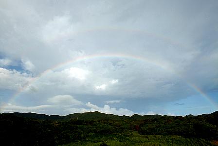 9月21日17時40分 虹