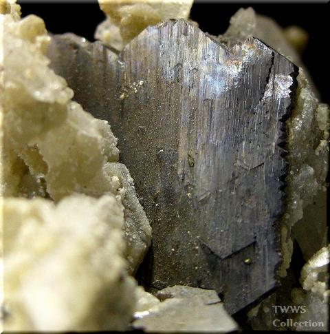 硫砒鉄鉱&水晶1アップ1