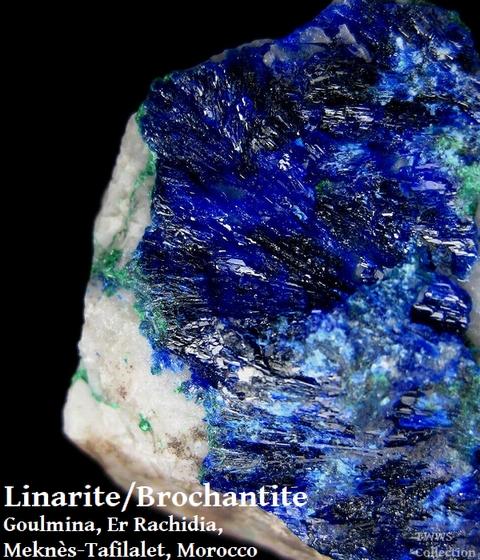 青鉛鉱&ブロシャン銅鉱_モロッコ1
