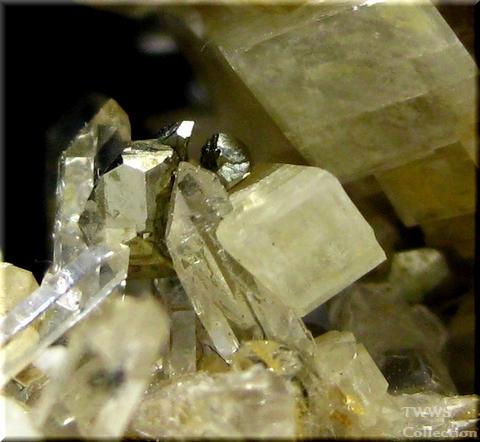 水晶&アンケル石&黄鉄鉱_フランス1アップ4