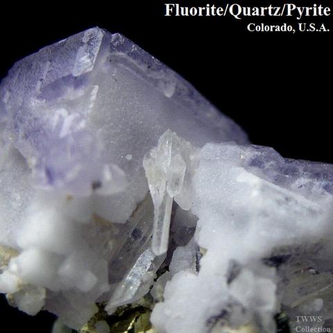 蛍石&水晶&黄鉄鉱_コロラド1