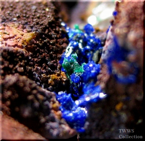 鉄水晶&藍銅鉱_モロッコ1アップ