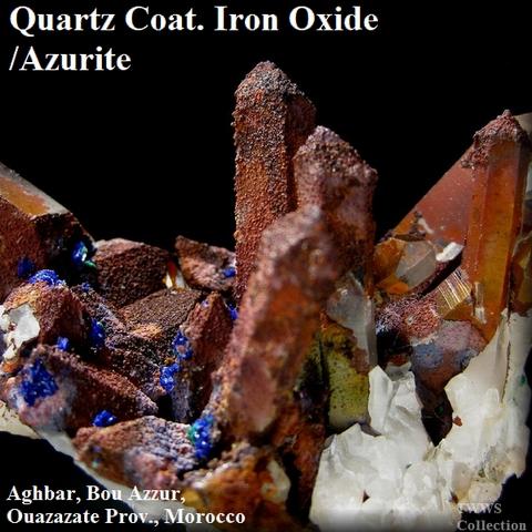 鉄水晶&藍銅鉱_モロッコ1