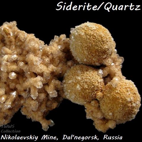 菱鉄鉱&水晶_ロシア1
