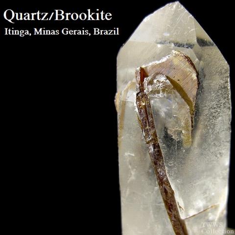 水晶&板チタン石_ブラジル1
