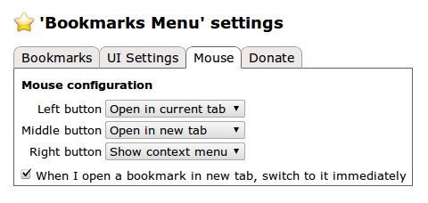 Bookmarks Menu Chrome拡張機能 ブックマーク マウスオプション