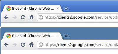 Bluebird Chromeテーマ クラシックテーマとの比較