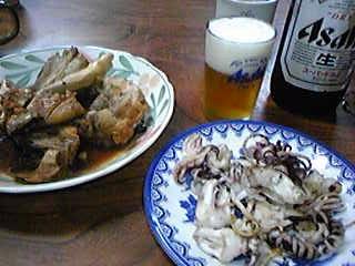 十円寿司 あら煮、下足焼き100915