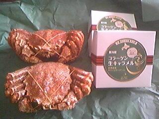 斉藤からの蟹とコラーゲン生キャラメル100429