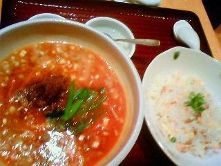 110112 中華園 ランチ 坦々麺