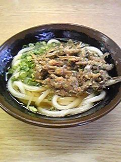 斉賀製麺所 かけうどん いりこ天080827