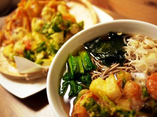 かきあげそば 野菜の天ぷら