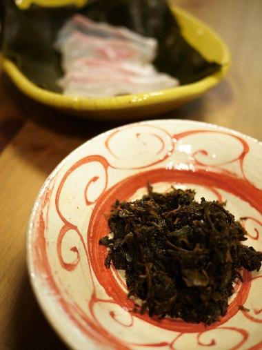 お茶の佃煮 鯛の昆布締め