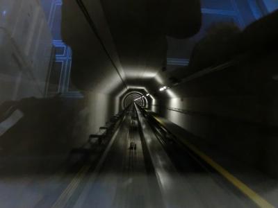 チューリッヒ空港の地下鉄通路