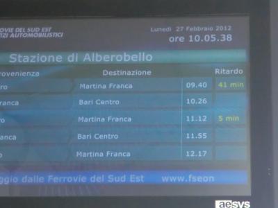 チステルニーノ行き電車はさらに遅れた