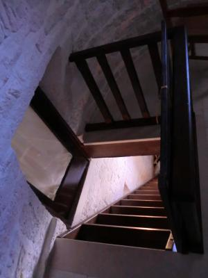 宿泊したトゥルッリの屋根裏