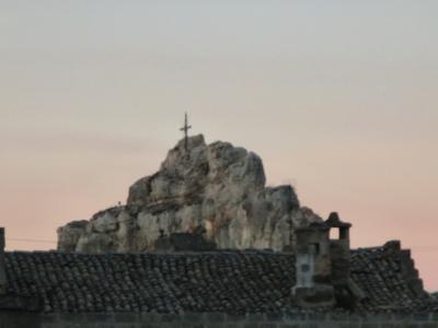 夕焼けとイドリス教会