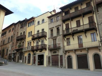 アレッツォ グランデ広場に面した家