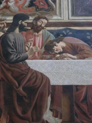 カスターニョ 最後の晩餐 眠るヨハネ
