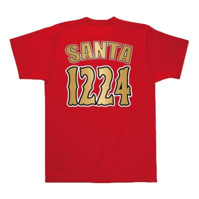 クリスマス 12/24 MLB風 【両面プリント】(ウラ=SANTA1224)