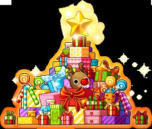 3015006クリスマスのプレゼントチェア2