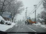 杉島方面の雪景色